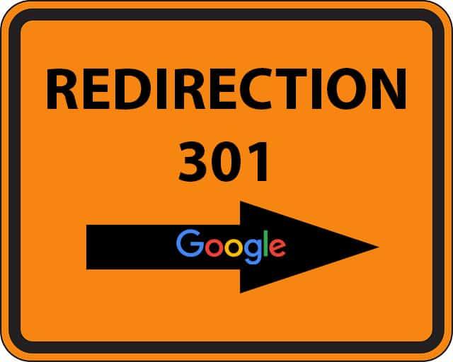 redirection provisoire 301