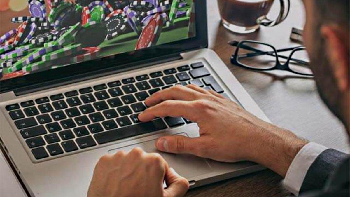 casino en ligne laptop